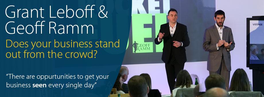 Grant Leboff and Geoff Ramm Marketing
